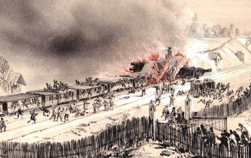 1842 - Версальская железнодорожная катастрофа (Франция)