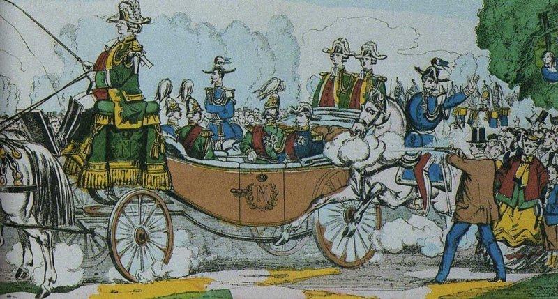 1867 - В Париже польский эмигрант Антон Березовский стрелял из пистолета в российского императора Александра II,