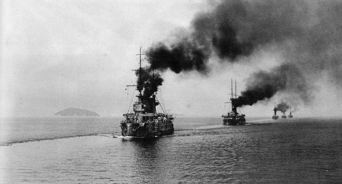 1905 - Начало Цусимского сражения
