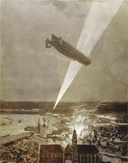 1915 - Немецкие дирижабли впервые бомбили Лондон.