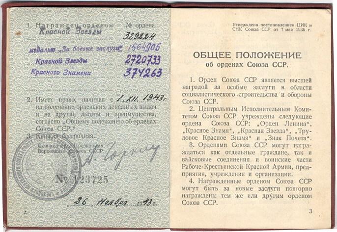 1936 - Постановлением ЦИК и СНК СССР утверждено общее положение об орденах Союза ССР