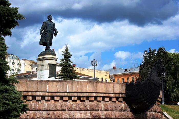 1955 - Открытие памятника Афанасию Никитину в Калинине