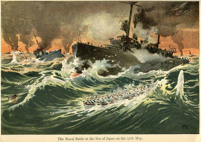 27-28 мая 1905 года произошло Цусимское сражение