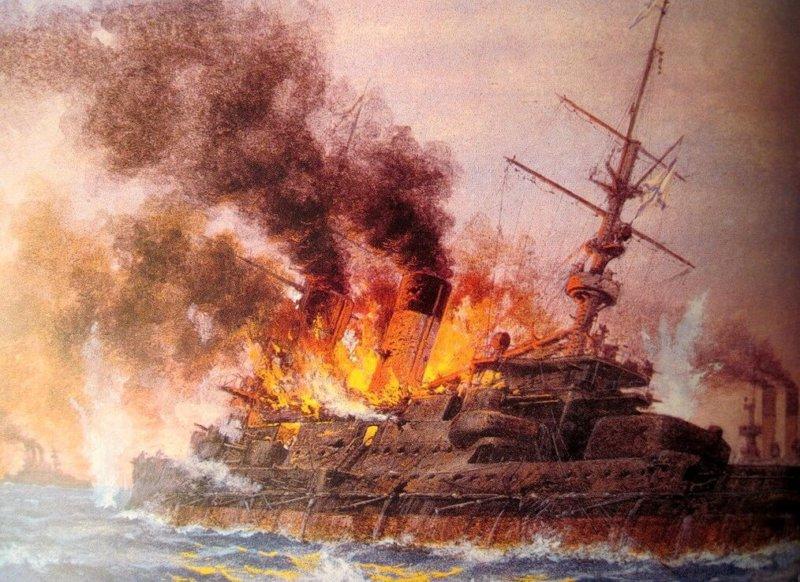27 мая 1905 года под Цусимой погиб эскадренный броненосец