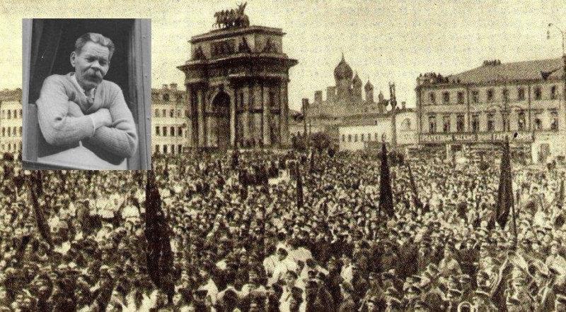 28 мая 1928 года триумфальное возвращение Горького из-за границы, на Белорусско-Балтийском вокзале толпы москвичей