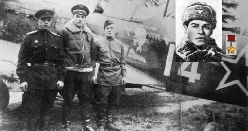 28 мая 1944 года на горящем истребителе командир эскадрильи