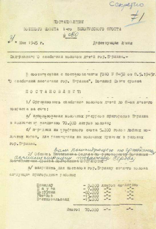 30 мая 1945 года в Берлине и других городах советской зоны оккупации вводится карточная система на продукты