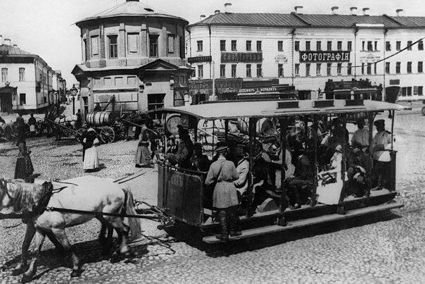 7 июня 1872 года в Москве начато строительство первой в городе конно-железной дороги