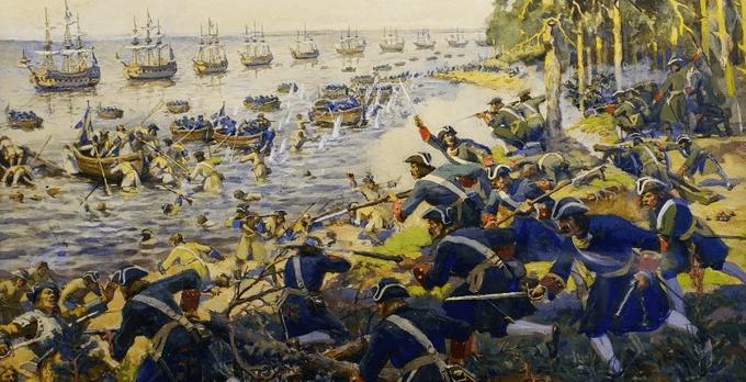 15 июня 1705 года заложенный Петром I у острова Котлин русский форт