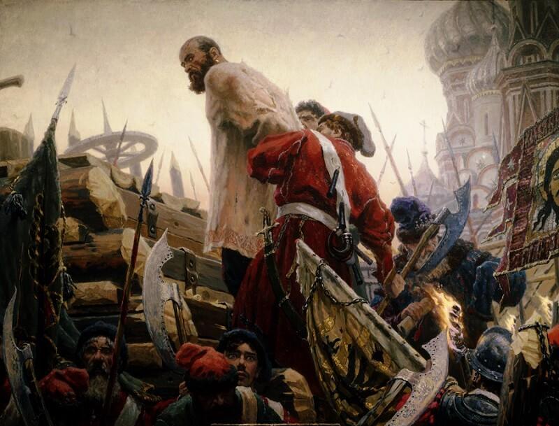 16 (6) июня 1671 года в Москве на Красной площади состоялась казнь Разина