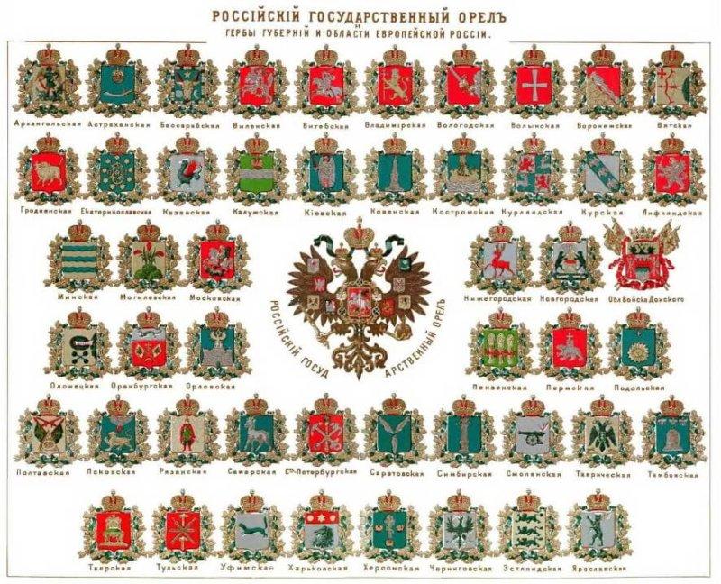 1781 - Именной Указ Екатерины определил в России 40 губерний