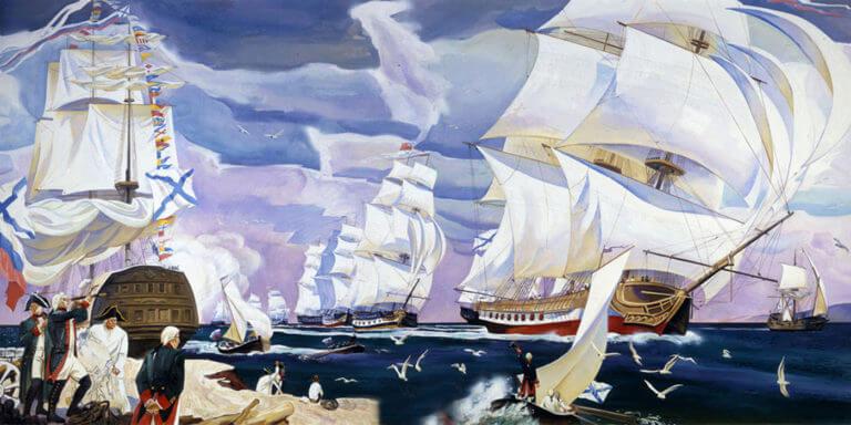 1783 - В этот день под руководством контр-адмирала Фомы Фомича Мекензи на западном берегу Южной бухты началось строительство города и военного порта Ахтиар