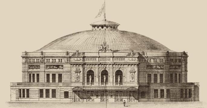 1822 - Открылось здание цирка на Крестовском острове,