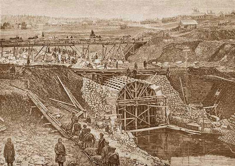 1843 - Начало строительства Николаевской железной дороги, линия Петербург-Москва