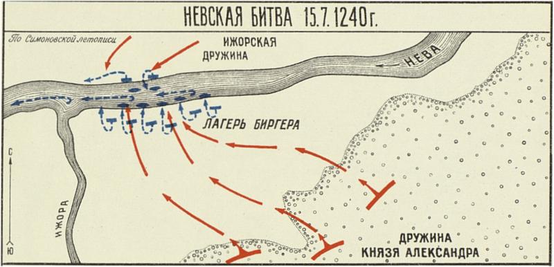 1240 - Невская битва - сражение на левом берегу Невы