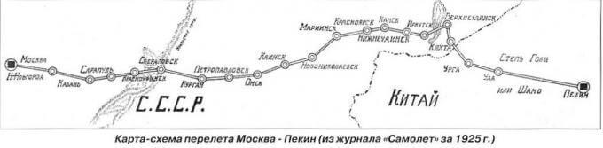 13 июля 1925 года был завершён перелёт шести советских самолётов по маршруту Москва Улан-Батор Пекин