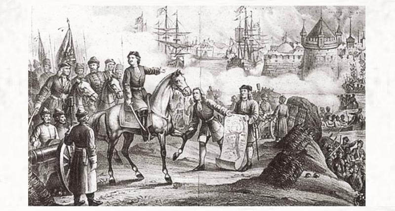14 июля 1700 года Константинопольский мир с Турцией