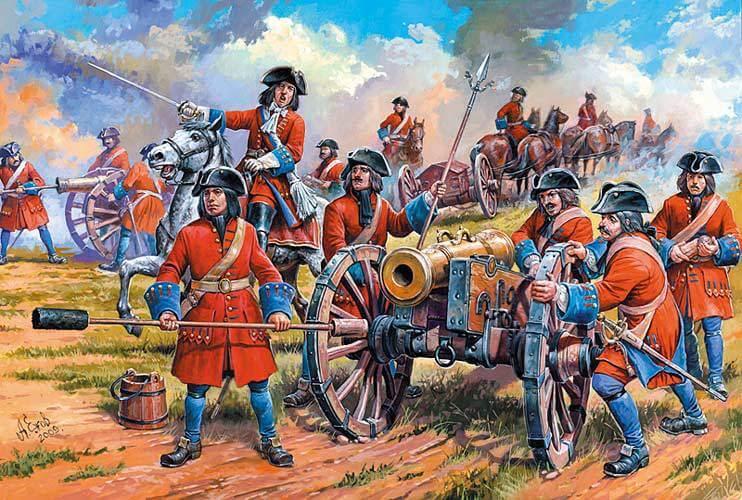 1695 - Под Азовом Петр I впервые в жизни принял участие в настоящем бою