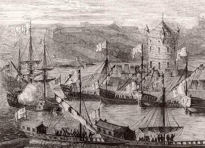 1695 - Русской армией был предпринят первый штурм турецкой крепости Азов