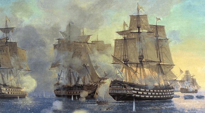 17 июля 1788 года победа русской эскадры у о. Гогланд сорвала планы шведов высадить десант и атаковать Петербург