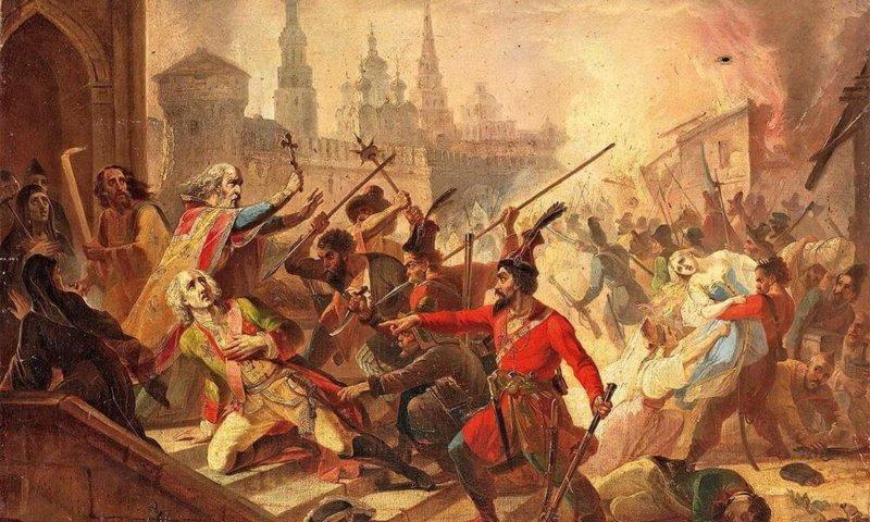 1774 - Двадцатитысячная армия Емельяна Пугачева ворвалась в Казань и учинила там массовую резню и погромы