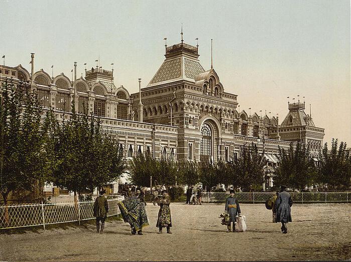 1822 - Открылась Нижегородская ярмарка в новых построенных зданиях.