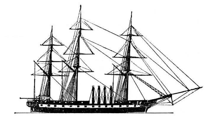 1848 - На Охтинском Адмиралтействе спущен на воду пароход-фрегат