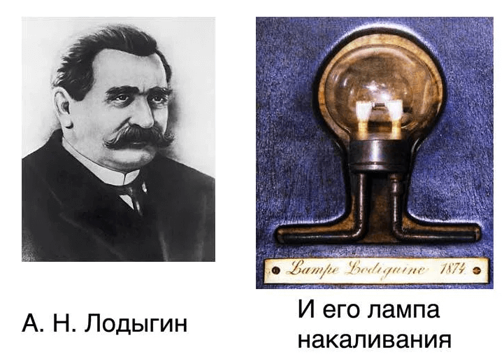 1874 - Александр Николаевич Лодыгин получил привилегию №1619 на лампу накаливания