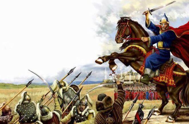 19 июля 1096 года русские полки Владимира Мономаха под Переяславлем-Южным разгромили половецкие орды Тугоркана