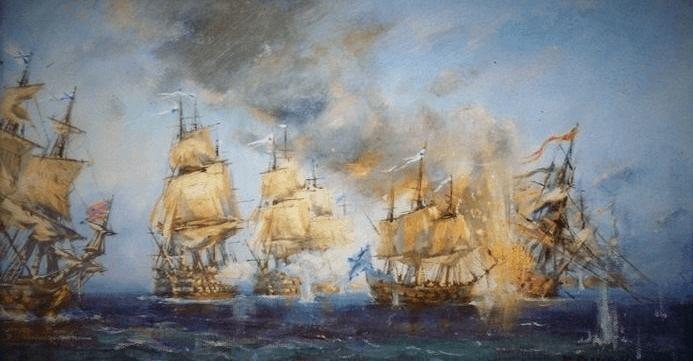 19 июля 1790 года эскадра Ушакова разгромила турецкий флот в Керченском сражении.