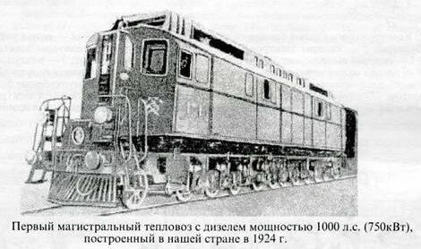 1924 - Из мастерской Балтийского судостроительного завода вышел первый советский тепловоз.