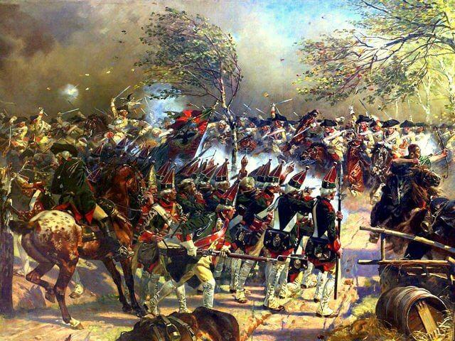 23 июля 1759 года русские войска Салтыкова в районе Пальцига (Силезия) разбили прусскую армию