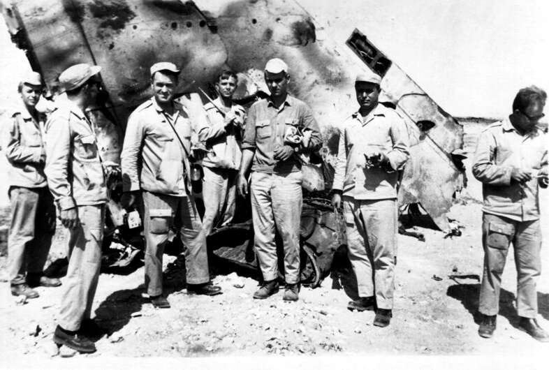 3 августа 1968 года в ходе войны между Египтом и Израилем (1967-1970) в небе Египта советскими ракетами сбито 4 израильских истребителя