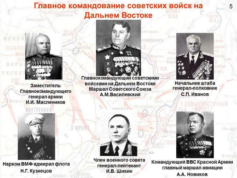 30 июля 1945 года решением Ставки ВГК образован орган стратегического руководства в советско-японской войне