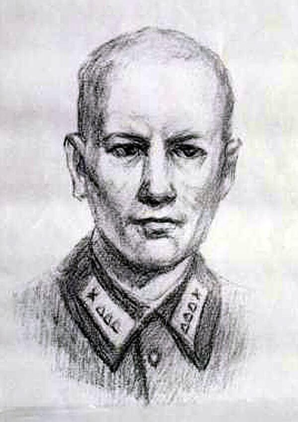 Этот карандашный портрет был сделан по памяти только в 1990-е годы одним из сослуживцев Николая Сиротинина