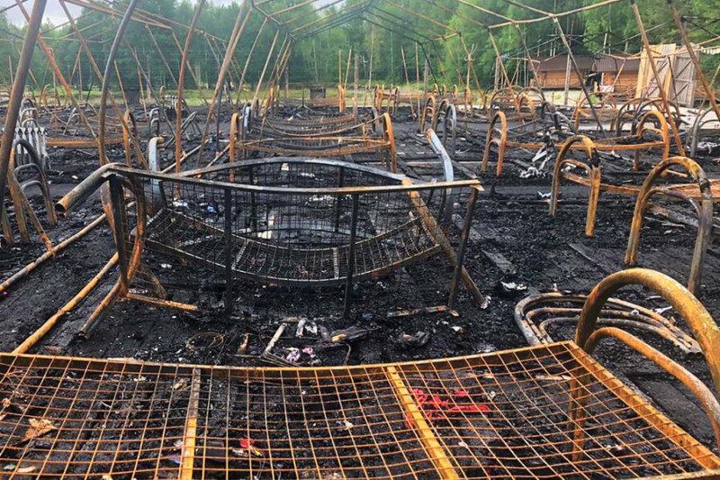 Произошел пожар в детском лагере