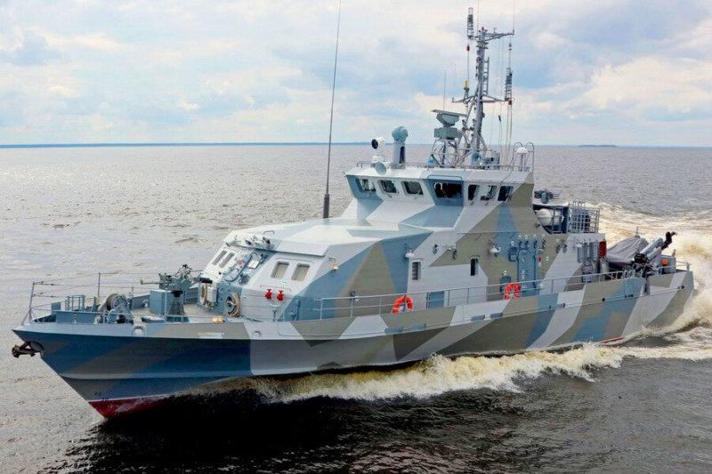 Спущен на воду третий катер для охраны Крымского моста