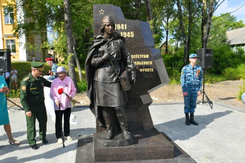 В Карелии открыт памятник военной медсестре