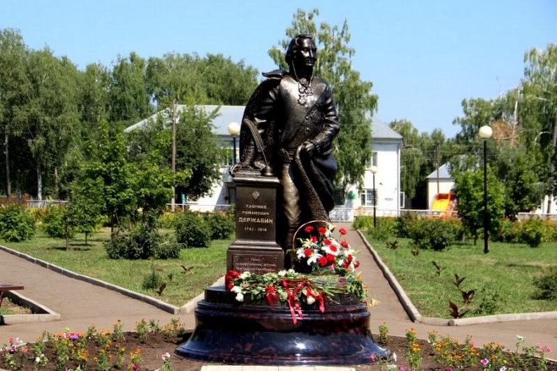 В Оренбуржье открыли памятник Гавриилу Державину