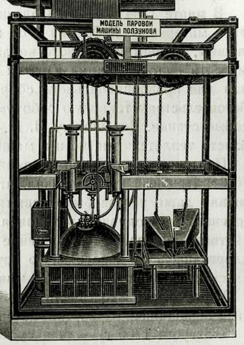 1766 - Была пущена в эксплуатацию пароатмосферная машина русского изобретателя И.И. Ползунова