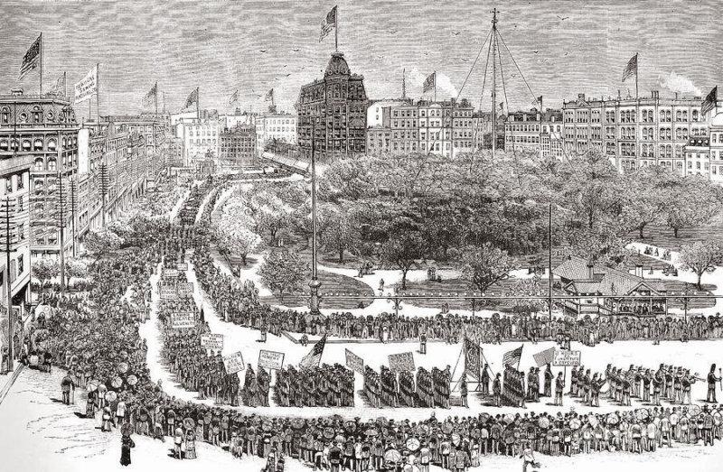 1882 - В Нью-Йорке впервые отмечался День Труда