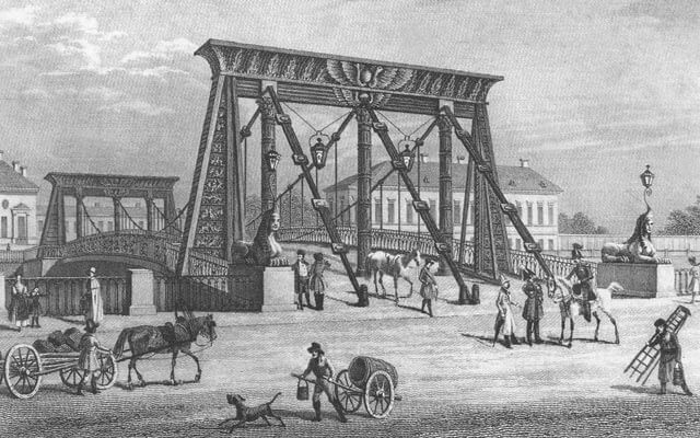 6 сентября 1826 года в Санкт-Петербурге на Фонтанке был открыт Египетский мост