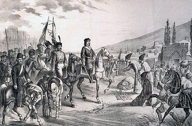 12 сентября 1723 года закончился Каспийский поход Петра I, Персия была вынуждена уступить России побережье Каспийского моря вместе с Баку