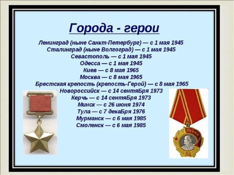 14 сентября 1973 года Керчи и Новороссийску присвоено звание Город-герой