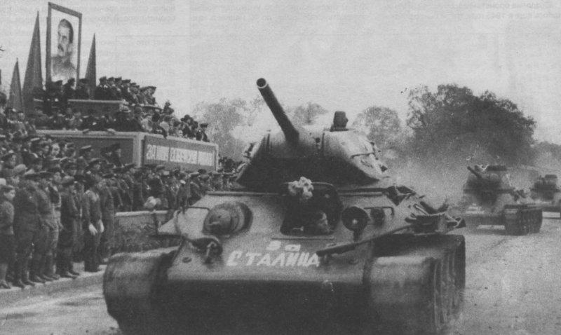 16 сентября 1945 года - парад в честь победы над Японией в г. Ворошилов (Уссурийск)