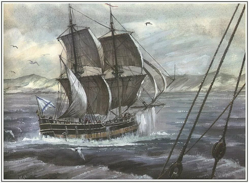 1693 - Петром I заложено первое судно - 24-пушечный корабль