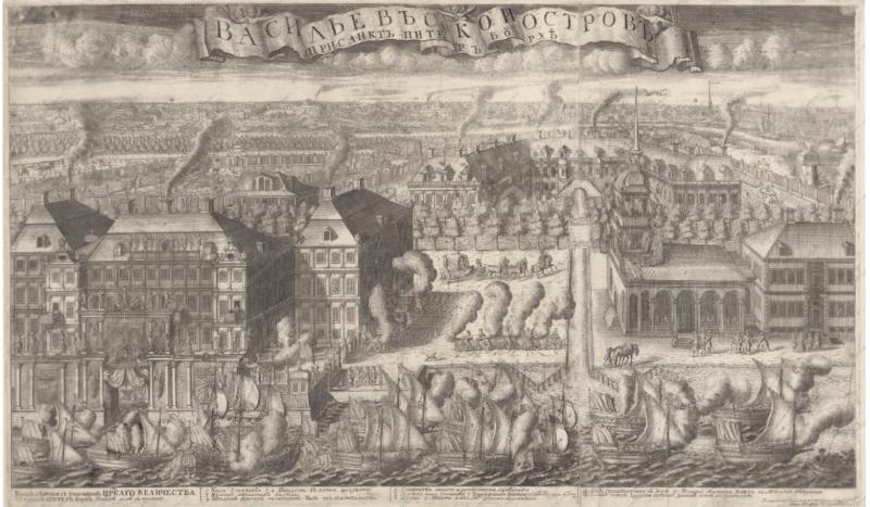 1714 - По Неве торжественно проведены шведские суда, захваченные при Гангуте.