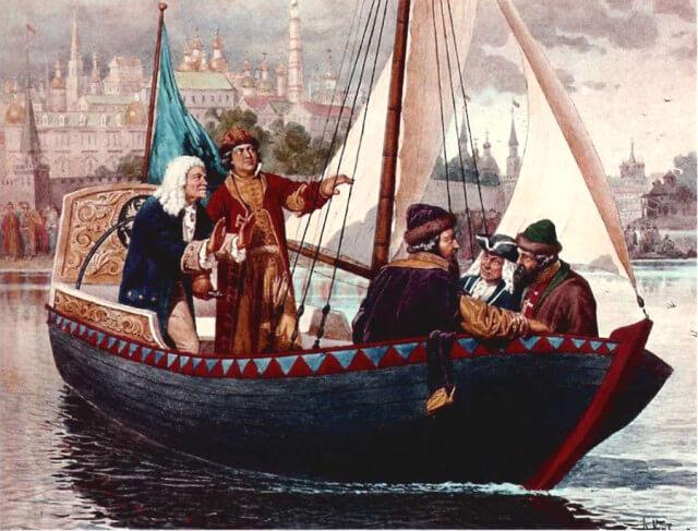 1723 - Ботик Петра I, торжественно перевезен из Москвы в Петербург и установлен на Государевом бастионе Петропавловской крепости.