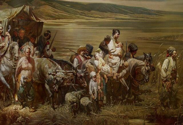 1792 - Начало заселения Кубани казаками