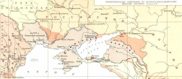6 октября 1768 года турки, поддерживаемые Францией и Австрией, арестовали русского посла Обрескова. Это стало поводом для войны (17681774), по итогам которой Турция потеряла Крым
